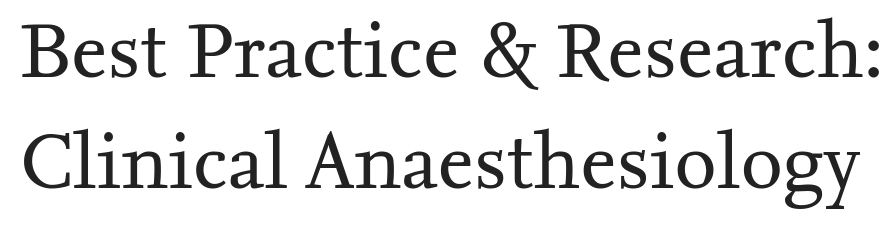 Best Practice & Research Clinical Anaesthesiology logo